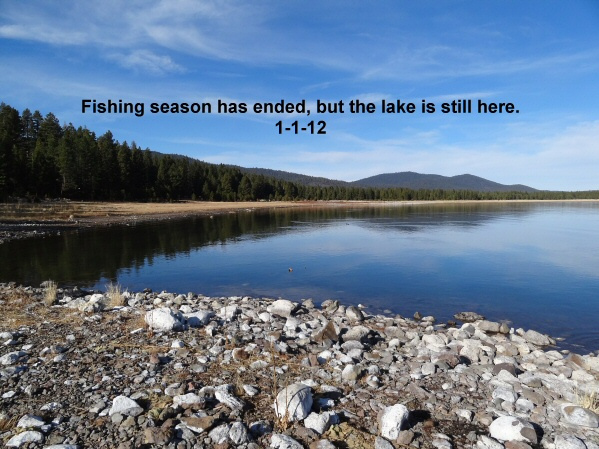 Fishing season has ended but the lake is still here 1-1-12