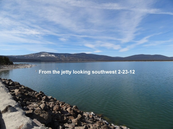 From the jetty looking southwest 2-23-12