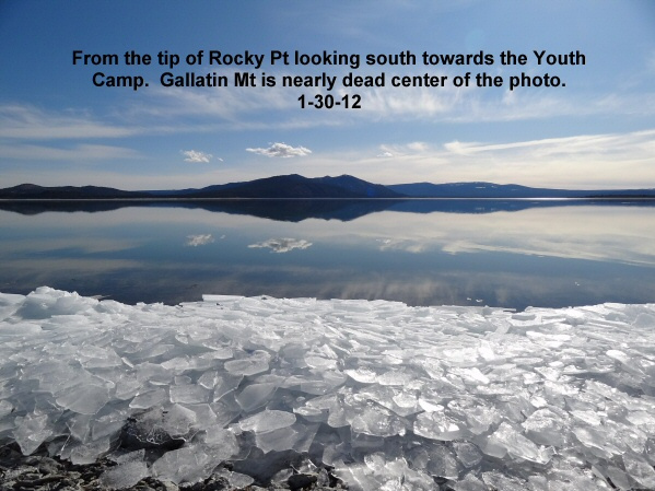 From the tip of Rocky Pt looking across a glass covered Eagle Lake 1-30-12