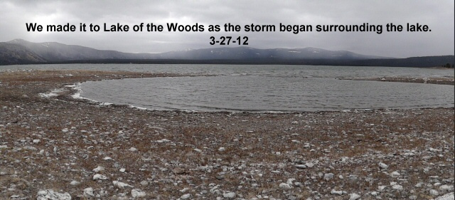 Lake of the Woods as the storm surrounded the lake 3-27-12