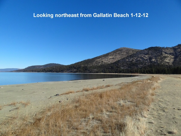 Looking northeast from Gallatin Beach 1-12-12