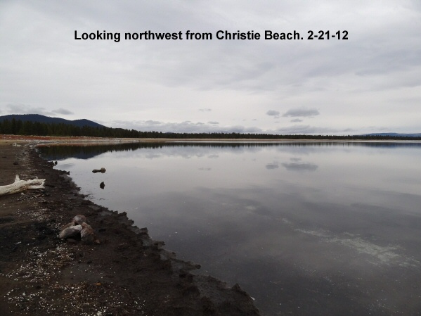 Looking northweat from Christie Beach 2-21-12