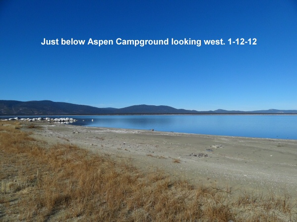 Looking west from Gallatin Beach 1-12-12