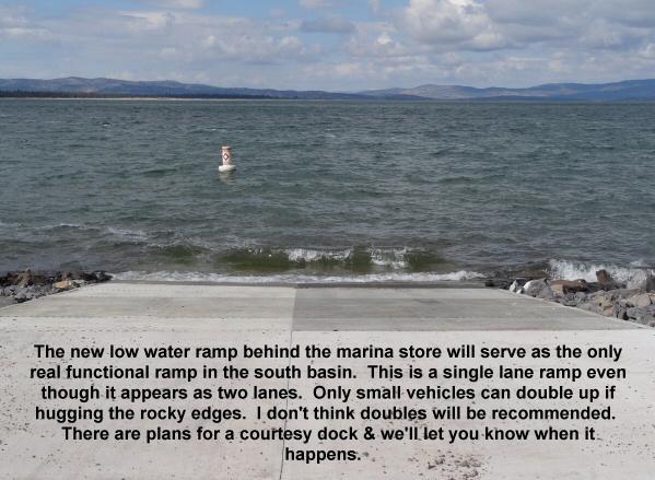New low water ramp at Eagle Lake marina 4-14-12