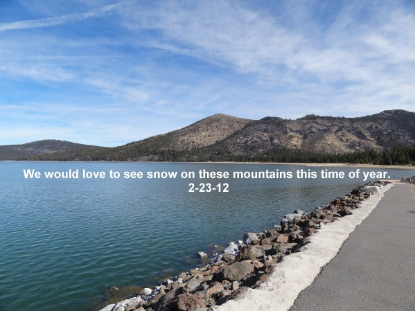 No snow on the east bordering mountains 2-23-12