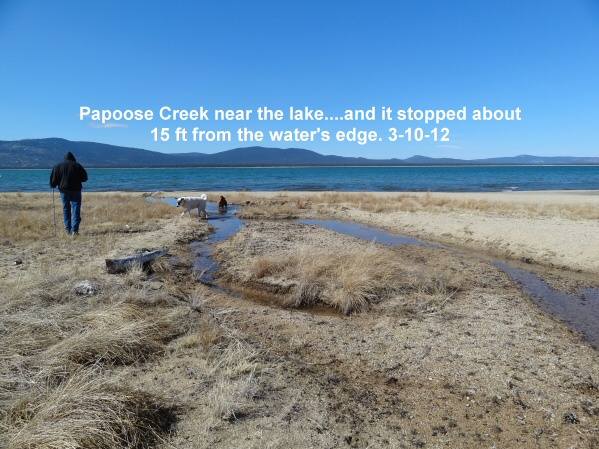 Papoose Creek so close yet so far away 3-10-12
