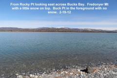 From Rocky Pt looking across Bucks Bay Eagle Lake 2-19-12