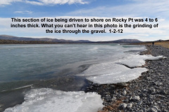 Ice being driven to shore by the wind on Rocky Pt 1-2-12