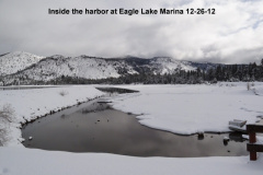 Inside the harbor at Eagle Lake Marina 12-26-12