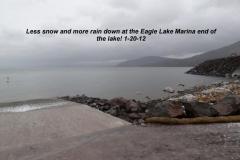 Less snow but more rain 1-20-12