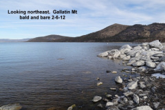 Looking northeast toward Gallatin Mt 2-6-12