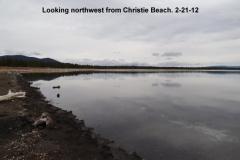 Looking northweat from Christie Beach 2-21-12
