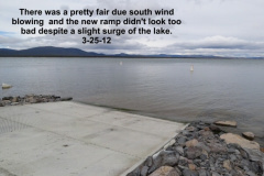 New low level ramp behind Eagle Lake Marina 3-25-12