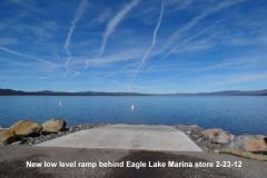 New low level ramp behind Eagle Lake Marina store 2-23-12