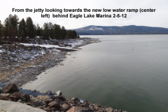 New low water ramp behind Eagle Lake Marina 2-6-12