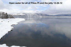 Open water at the jetty and Pikes Pt 12-26-12