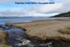 Papoose Creek before the snow storm