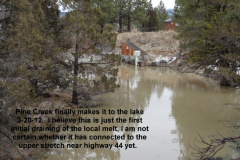 Pine Creek at Eagle Lake 3-20-12