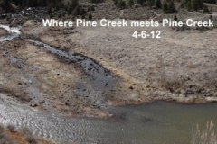Pine Creek meets Pine Creek Slough 4-6-12