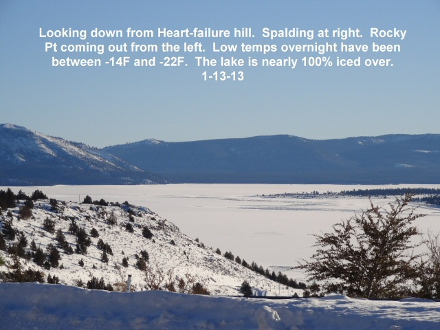 Looking down from heart-failure at Eagle Lake 1-13-13