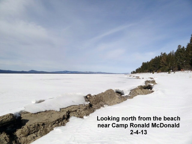 Looking north from Camp Ronald Mc D 2-4-13