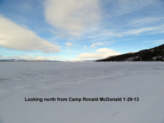 Looking north from Camp Ronald McD 1-29-13