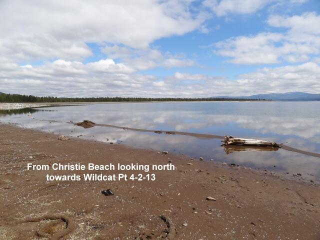 Looking north from Christie Beach towards Wildcat Pt 4-2-13
