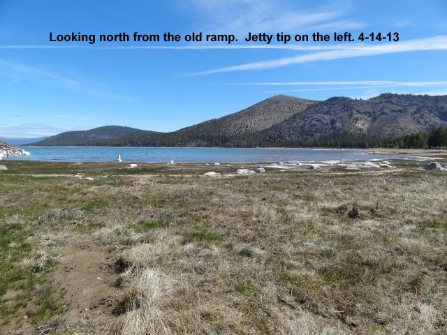 Looking north from the old ramp at Eagle Lake marina 4-14-13