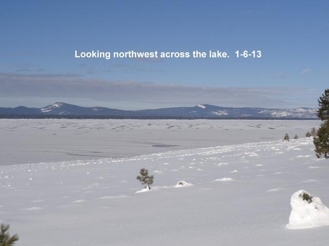 Looking northwest across the lake 1-6-13