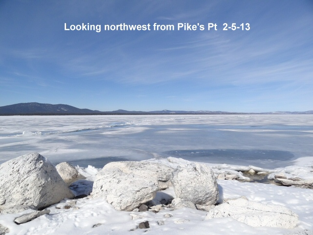 Looking northwest from Pikes Pt 2-5-13