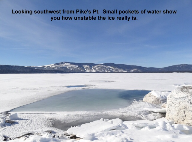 Looking southwest from Pike_s Pt across a frozen lake 1-14-13