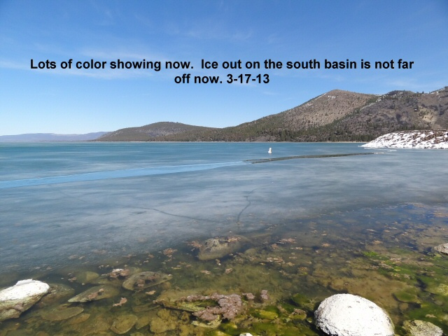 Lots of color showing on the south basin now 3-17-13