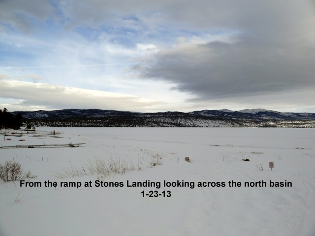 North basin from ramp at Stones Landing 1-23-13