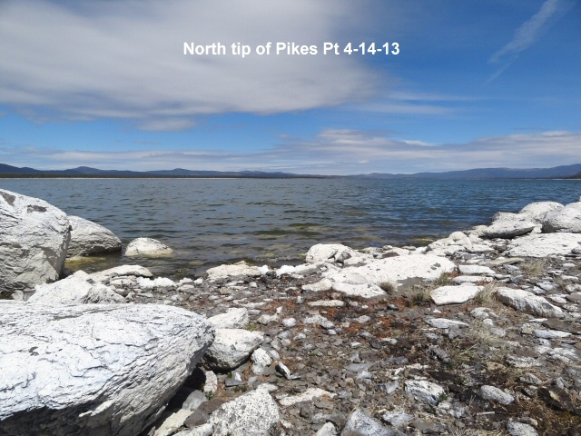 North tip of Pikes Pt 4-14-13