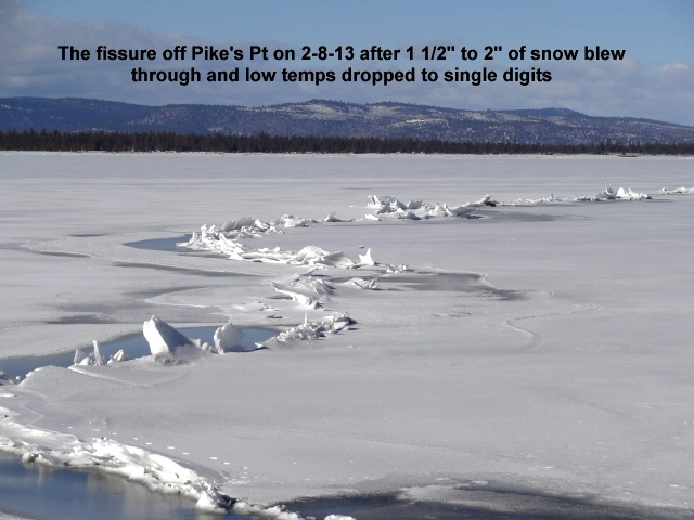 The fissure off Pike_s Pt on 2-8-13