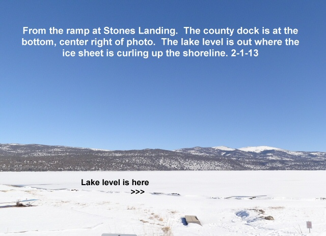 The north basin from Stones Landing ramp 2-1-13