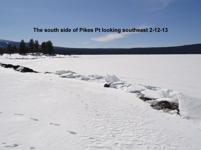The south side of Pikes Pt looking southeast 2-12-13