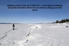 Looking north towards the tip of Pike_s Pt 1-14-13