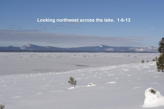Looking northwest across the lake 1-6-13