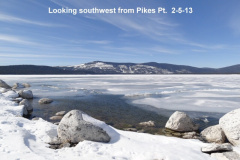 Looking southwest from Pikes Pt 2-5-13