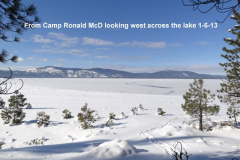 Looking west from camp Ronald McD 1-6-13