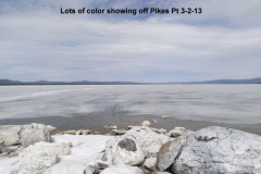 Lots of color showing to the ice on the south basin 3-2-13