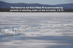 More standing water on the ice sheet of the south basin 2-5-13