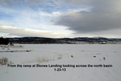 North basin from ramp at Stones Landing 1-23-13