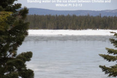 Standing water on the ice sheet between Christie and Wildcat Pt 3-2-13