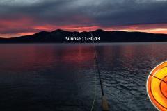 Sunrise on the pond 11-30-13
