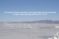 The massive fissure remains in the south basin 1-19-13