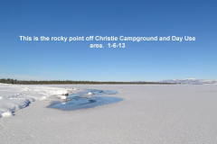 The rocky pt off Christie Campground and Day Use Area 1-6-13