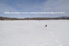 Walking on Buck_s Bay 2-16-13