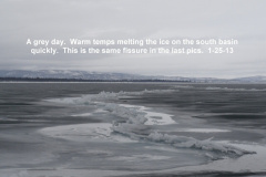 Warm temps melting the ice sheets 1-25-13